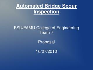 Automated Bridge Scour Inspection