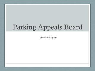 Parking Appeals Board