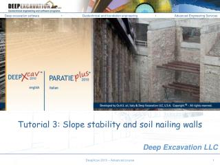 Tutorial 3: Slope stability and soil nailing walls