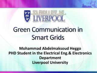 Green Communication in Smart Grids