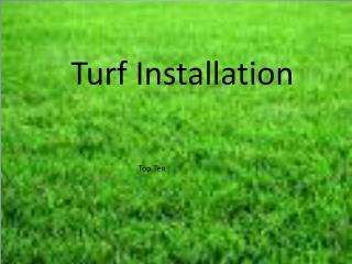 Turf Installation