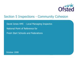Section 5 Inspections - Community Cohesion
