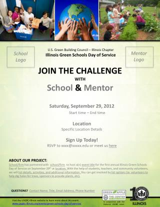 U.S . Green Building Council – Illinois Chapter Illinois Green  Schools Day of Service