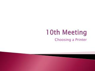 10th Meeting