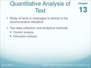 Quantitative Analysis of Text