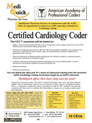 Certified Cardiology Coder