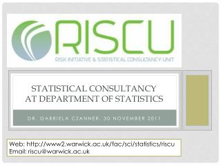 Statistical consultancy  at Department of Statistics