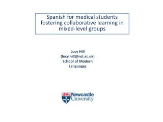 Spanish  for medical  students  fostering collaborative learning in mixed-level groups