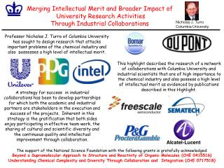 Merging Intellectual Merit and Broader Impact of  University Research Activities  Through Industrial Collaborations