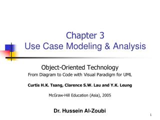 Chapter 3 Use Case Modeling & Analysis