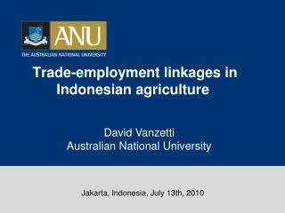 Trade-employment linkages in Indonesian agriculture