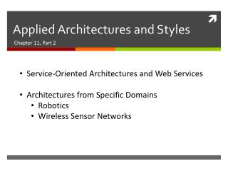 Applied Architectures and Styles