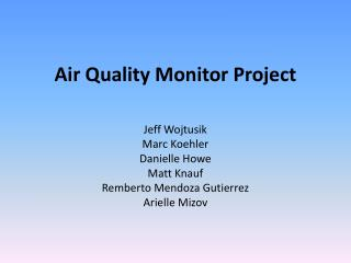 Air Quality Monitor Project