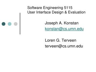 Ppt Software Engineering 5115 User Interface Design Evaluation Powerpoint Presentation Id 2396631