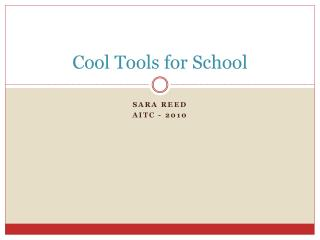 Cool Tools for School