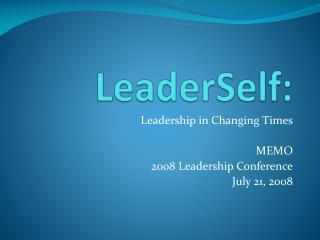LeaderSelf :