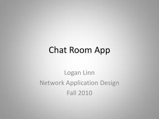 Chat Room App