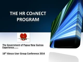 THE HR COnNECT PROGRAM