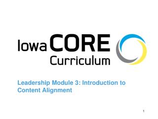 Leadership Module 3: Introduction to Content Alignment