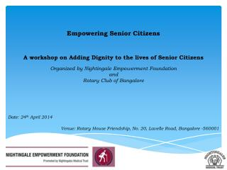 Empowering Senior Citizens