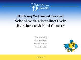 Bullying  Victimization and  School-wide  Discipline: Their Relations to  School Climate