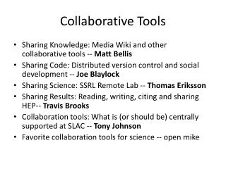 Collaborative Tools