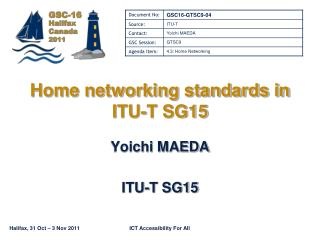 Home networking standards in ITU-T SG15