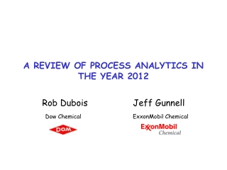 A REVIEW OF PROCESS ANALYTICS IN THE YEAR 2012