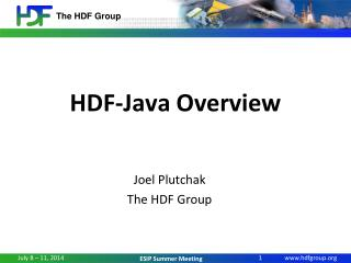HDF-Java Overview