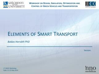 Elements  of  Smart Transport