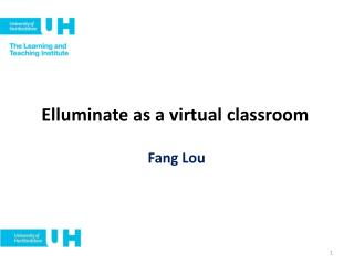 Elluminate as a virtual classroom