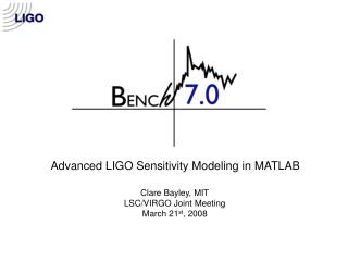 Advanced LIGO Sensitivity Modeling in MATLAB