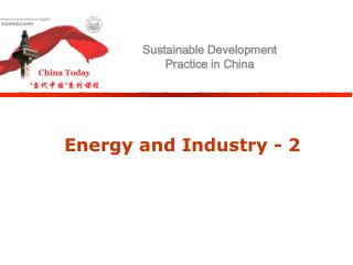 Energy and Industry - 2