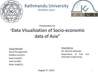 "Presentation  on "" Data Visualization of Socio-economic data of Asia"""