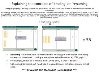 Explaining the concepts of 'trading ' or ' renaming