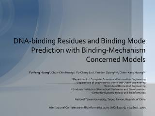 DNA-binding Residues and Binding Mode Prediction with Binding-Mechanism Concerned Models