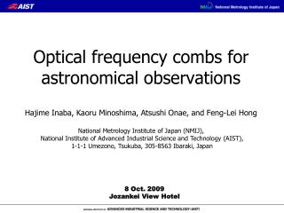 Optical frequency combs for astronomical observations