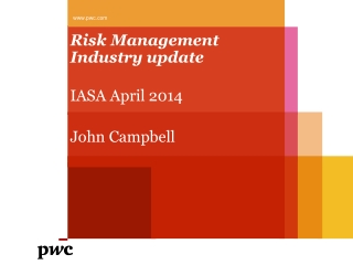 Enterprise Risk Management   Looking at  Risk In Strategy