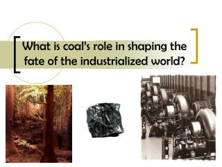 What is coal's role in shaping the fate of the industrialized world?