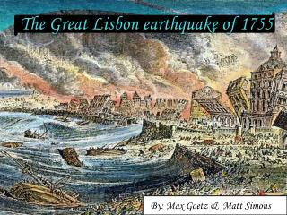 The Great Lisbon earthquake of 1755