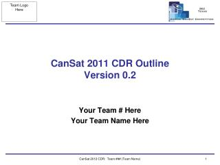 CanSat 2011 CDR  Outline Version 0.2