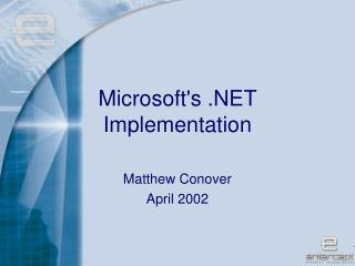 Microsoft's .NET Implementation
