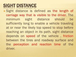 Sight Distance