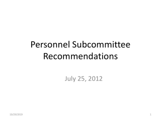 Systems Administration Sub-Committee