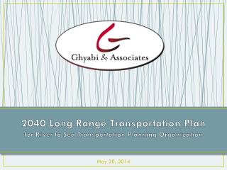 2040 Long Range Transportation Plan for River to Sea Transportation Planning Organization