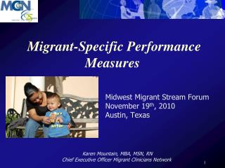 Migrant-Specific Performance Measures