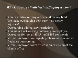 Why Outsource With Virtualemployee.com