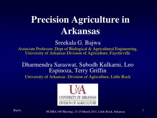 Precision Agriculture in Arkansas