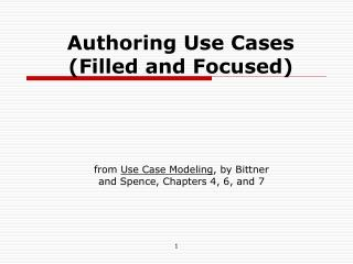 Authoring Use Cases  (Filled and Focused)