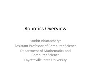 Robotics Overview